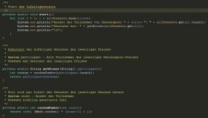 Programm Zufallsgenerator