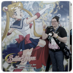 Heffa als Tuxedo Mask mit Sailor Moon