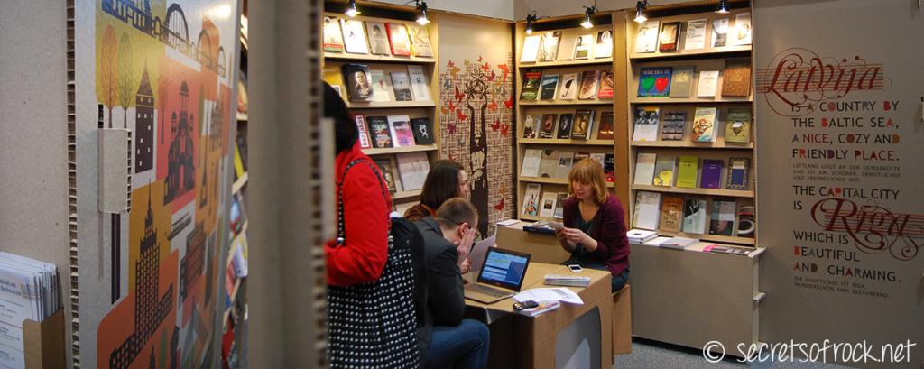 Buchmessestand Lettland in Leipzig