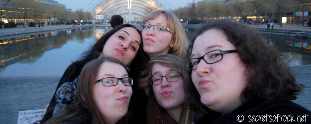 Selfie am Freitagabend vor der Messe Leipzig