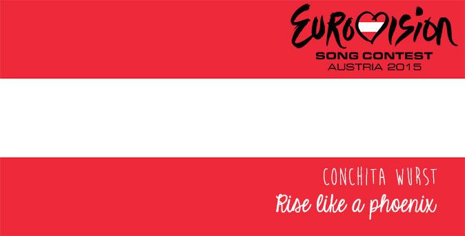 Eurovision Gewinner: Österreich (Flagge, Logo, Song, Künstlerin)