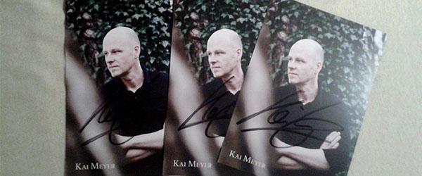 Kai Meyer Autogrammkarte zu gewinnen