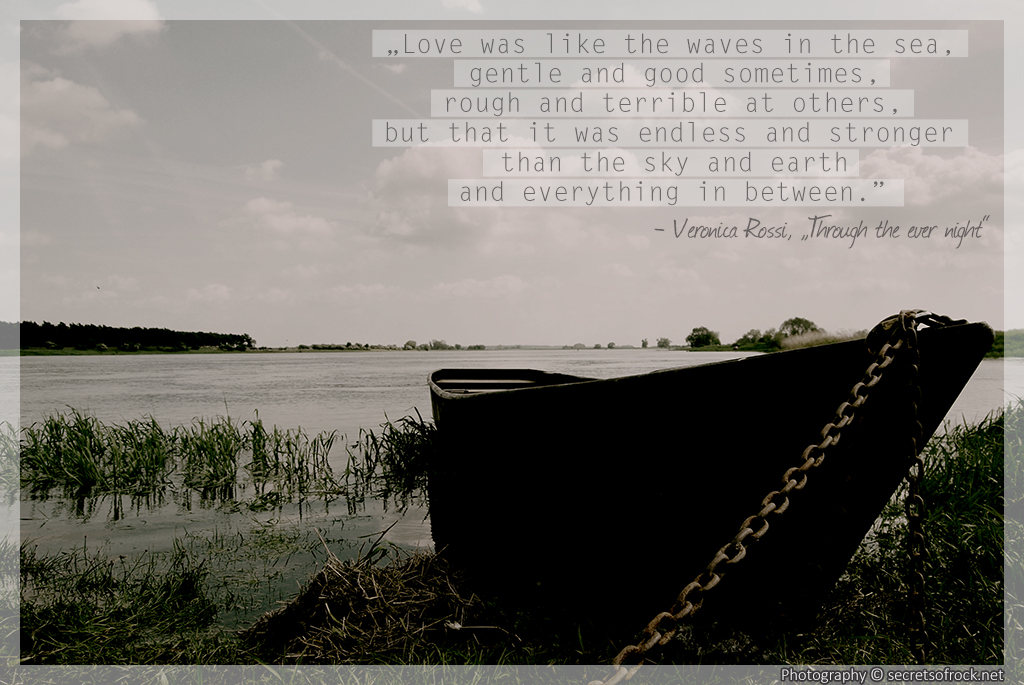 Veronica Rossi Quote Love was like waves