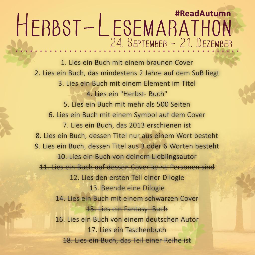 Herbst-Lesemarathon Update #1
