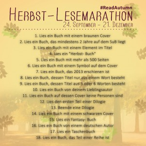 Herbst-Lesemarathon quadratisch