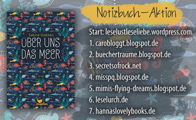 Notizbuch-Aktion: Über uns das Meer