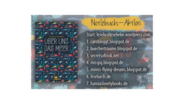 """Notizbuch-Aktion • """"Über uns das Meer"""" – Ankündigung"""