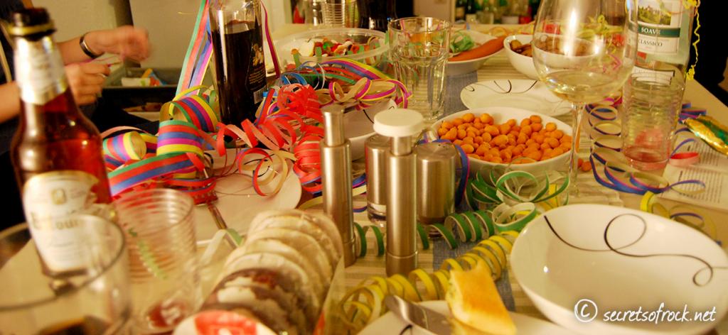 Silvester 2012 Partytisch