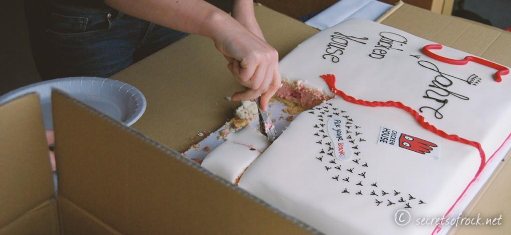 5 Jahre Chicken House Bloggertreffen Geburtstagstorte