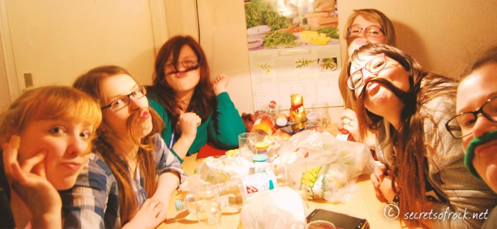 Abschiedsfoto mit Caro und Subway essen