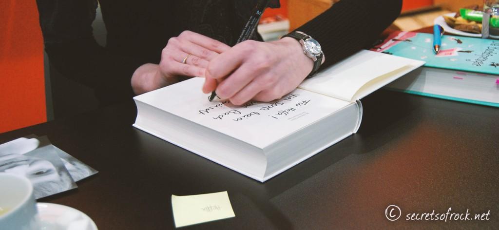Mechthild Glaser signiert mein Buchspringer Buch
