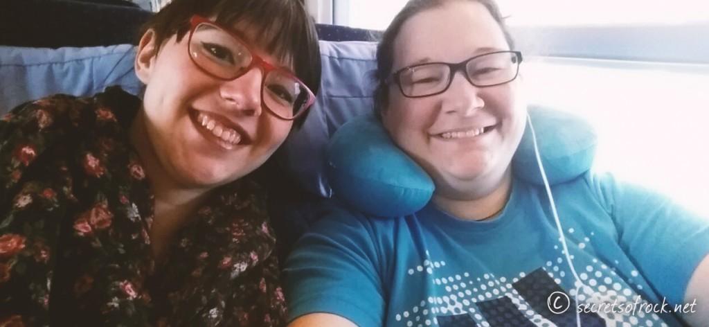 Selfie mit Fay im Zug nach Leipzig