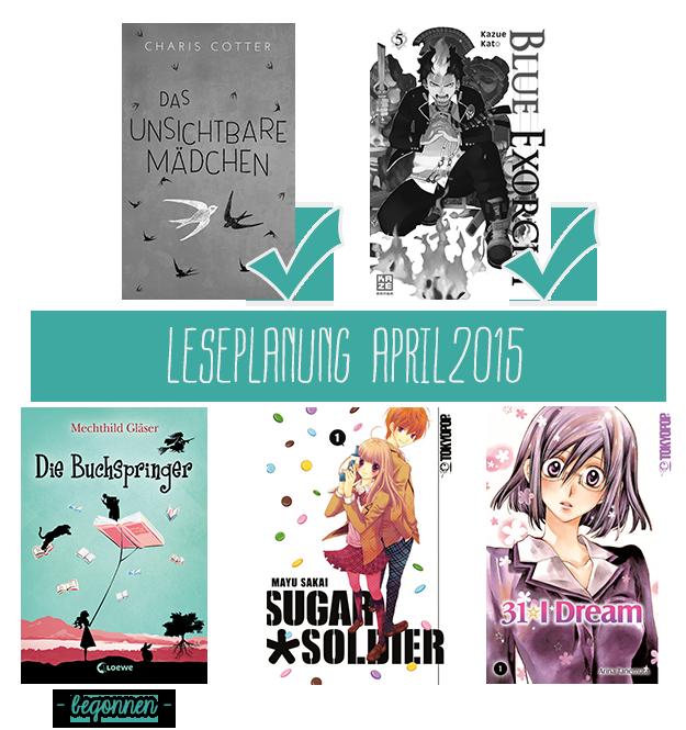Leseplanung April 2015