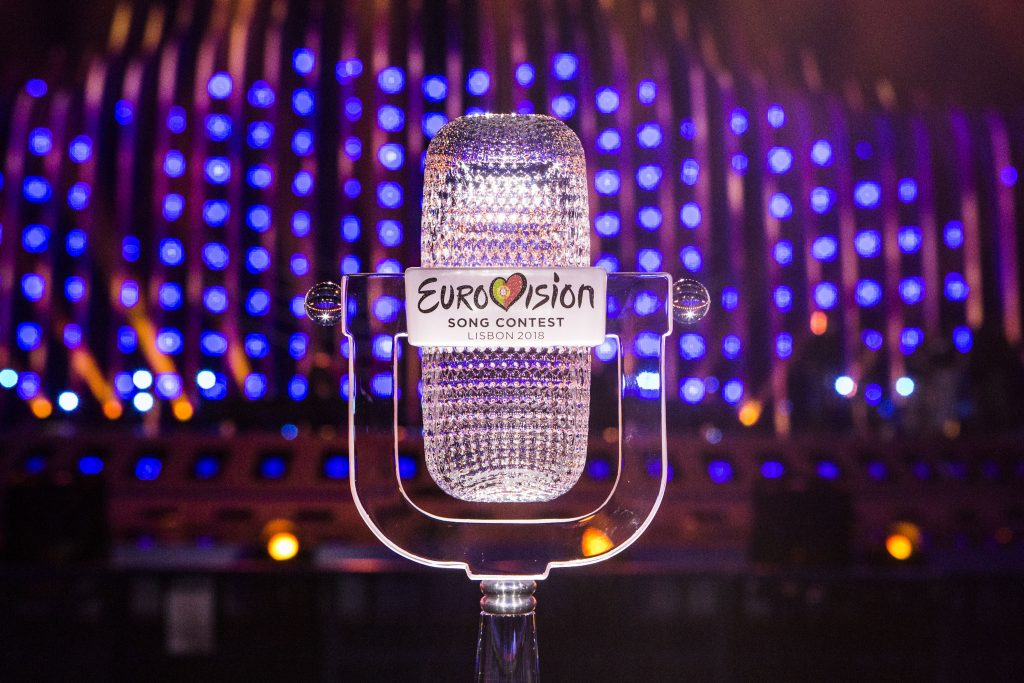 Trophäe des Eurovision Songcontest 2018, Photo by: Thomas Hanses