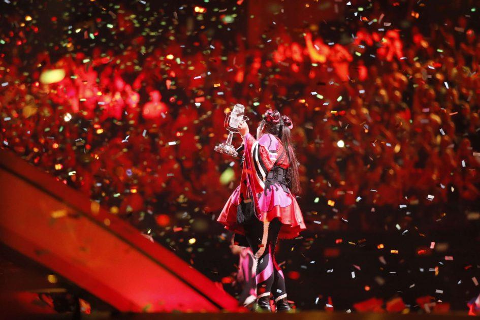 Glückliche Gewinnerin: Netta nach ihrem Gewinn des Eurovision Songcontest 2018, Photo by: Andres Putting